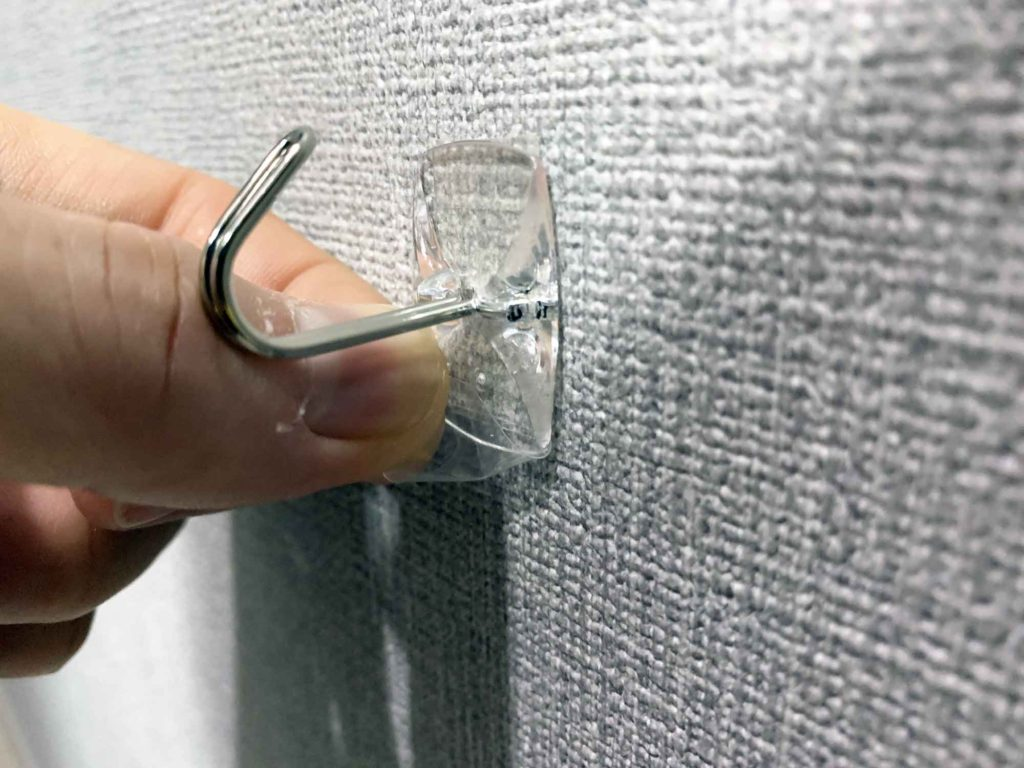 壁紙から簡単に剥がせるフック