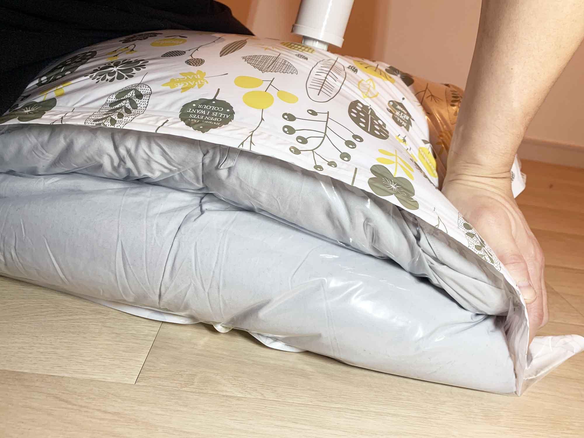 布団圧縮袋を圧縮する前