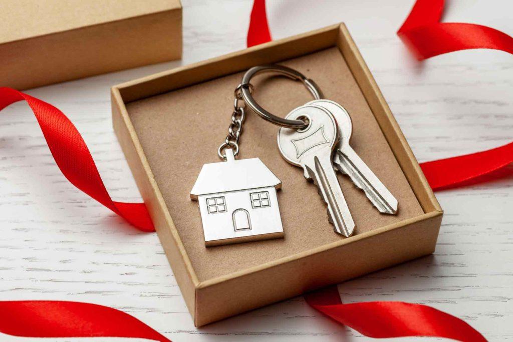 家の鍵のプレゼント