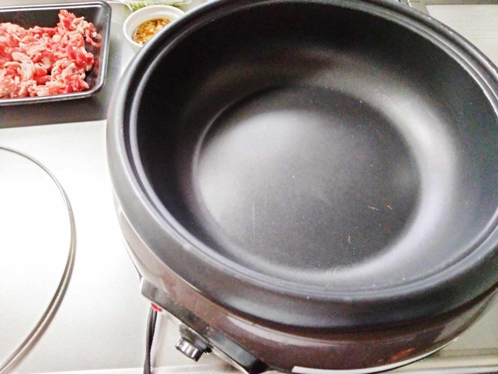 節約料理を作るためのホットプレート