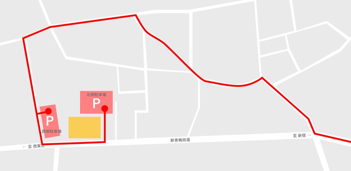 新宿方面からオザキフラワーパークへ向かう時に便利なアクセスマップ