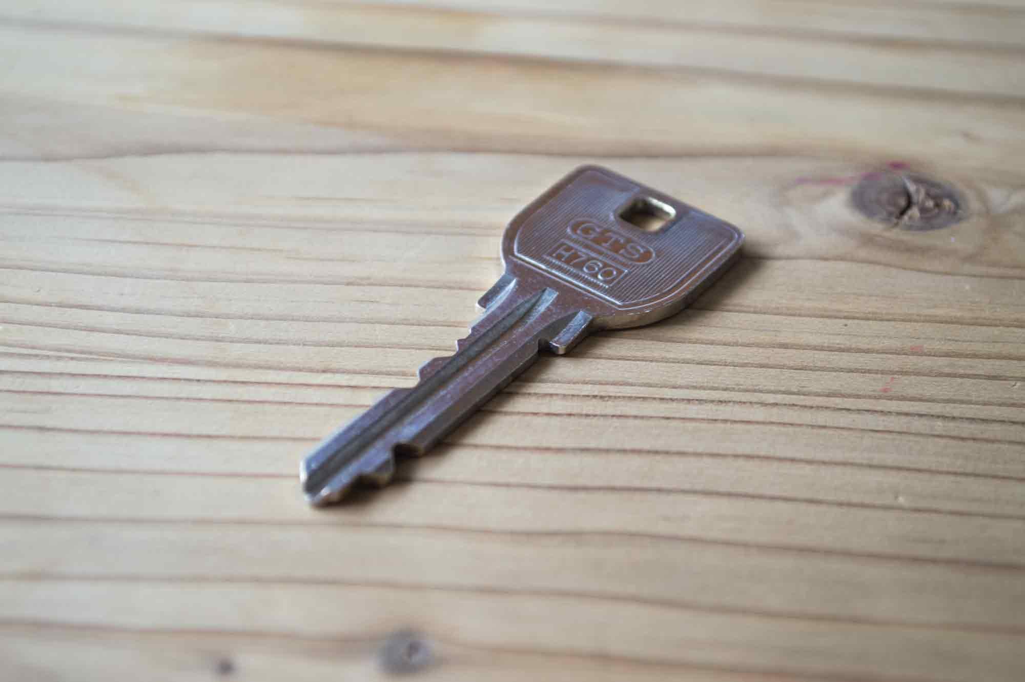 1本裸状態の鍵